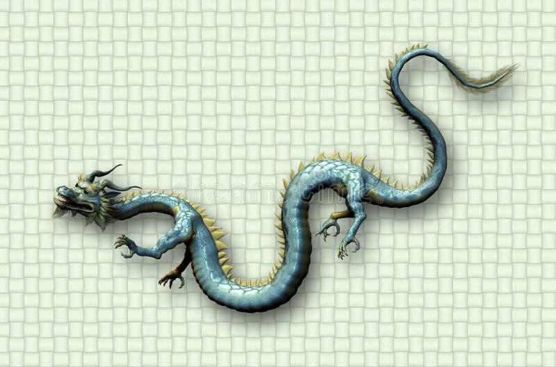 Dragón oriental en fondo de la armadura imagen de archivo libre de regalías