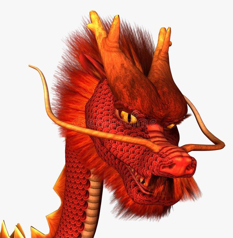 Dragón rojo stock de ilustración