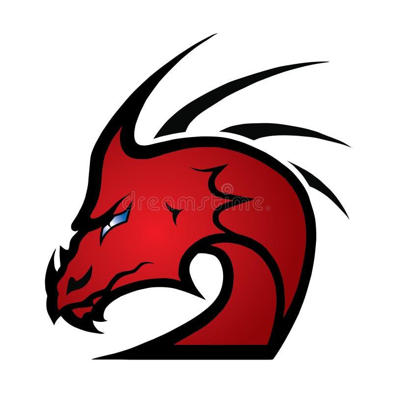 Dragón rojo ilustración del vector