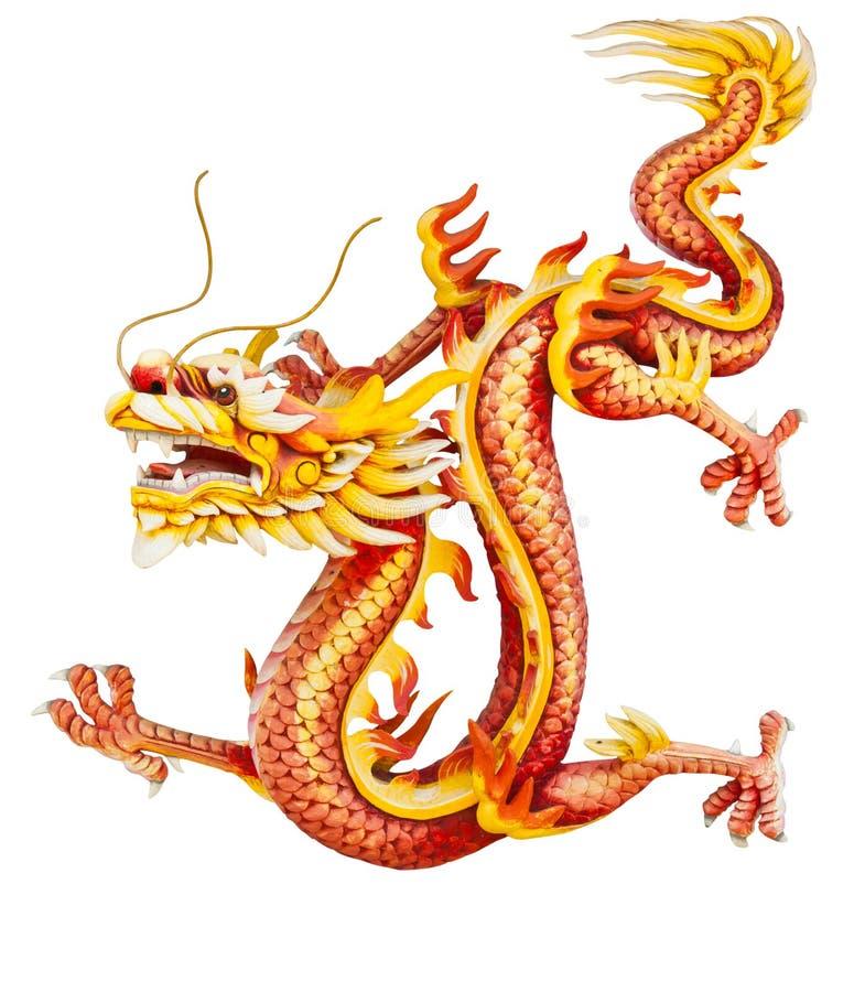 Dragón rojo aislado en blanco fotos de archivo libres de regalías
