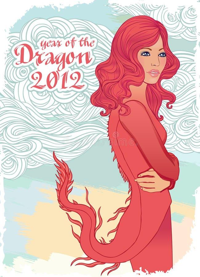 Dragón, símbolo del Año Nuevo 2012 libre illustration