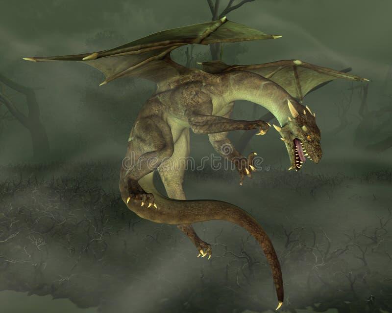 Dragón verde del pantano libre illustration