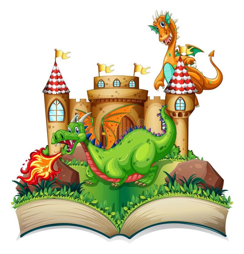 Dragón y libro libre illustration