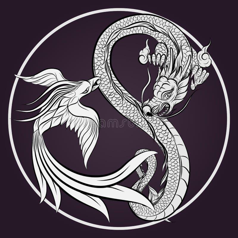Dragón y Phoenix libre illustration