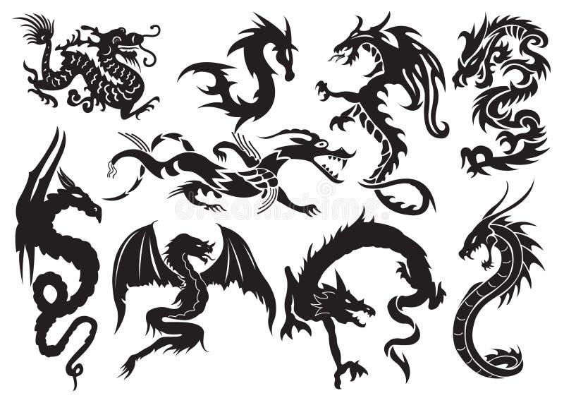 Download Dragões ilustração do vetor. Ilustração de adornment - 18052432