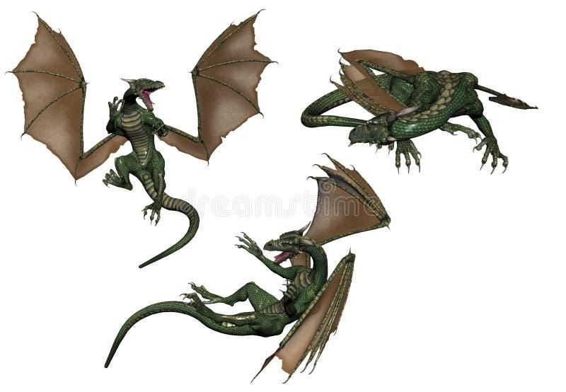 Dragões ilustração do vetor