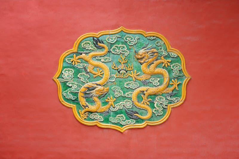 Dragões imperiais na cidade proibida, Beijing fotos de stock