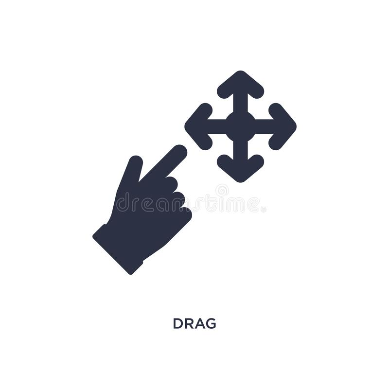drag icon on white background. Simple element illustration from arrows 2 concept royalty free illustration