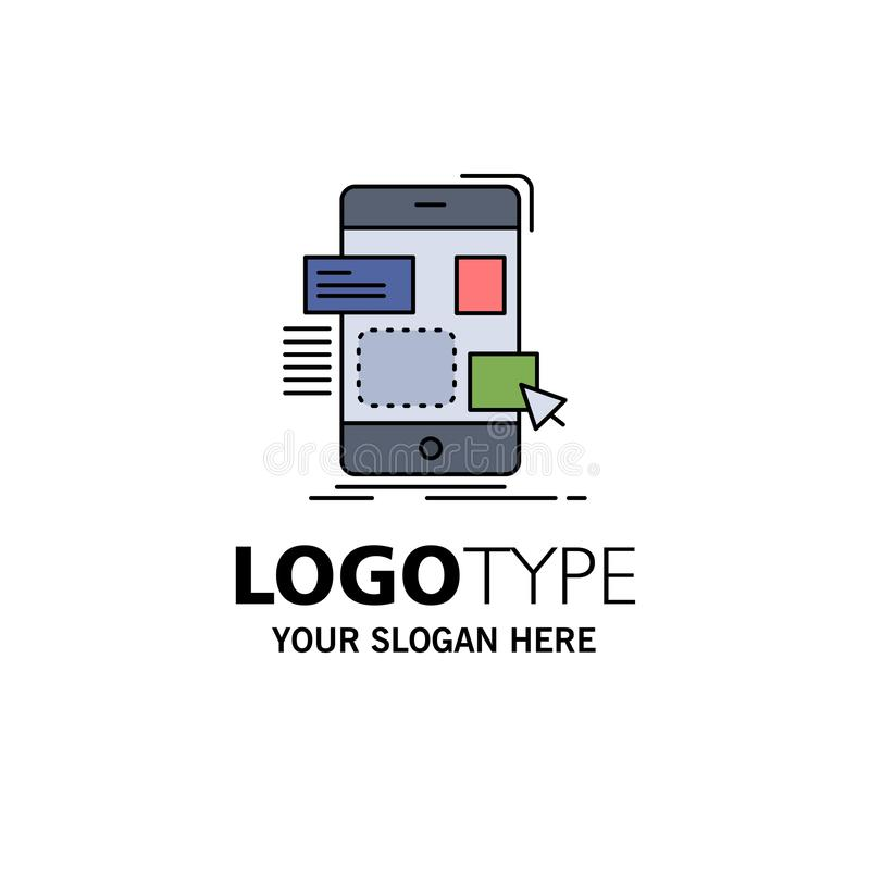 drag, mobile, design, ui, ux Flat Color Icon Vector royalty free illustration