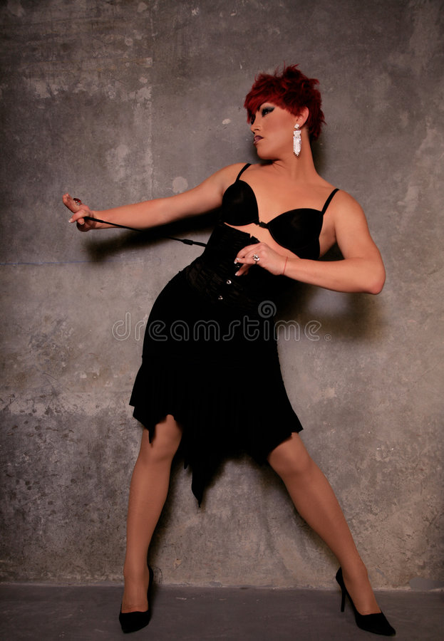Drag Queen. Man Dressed as Woman with professional Make-up and Hair. High Fashion Drag Queen royalty free stock photography