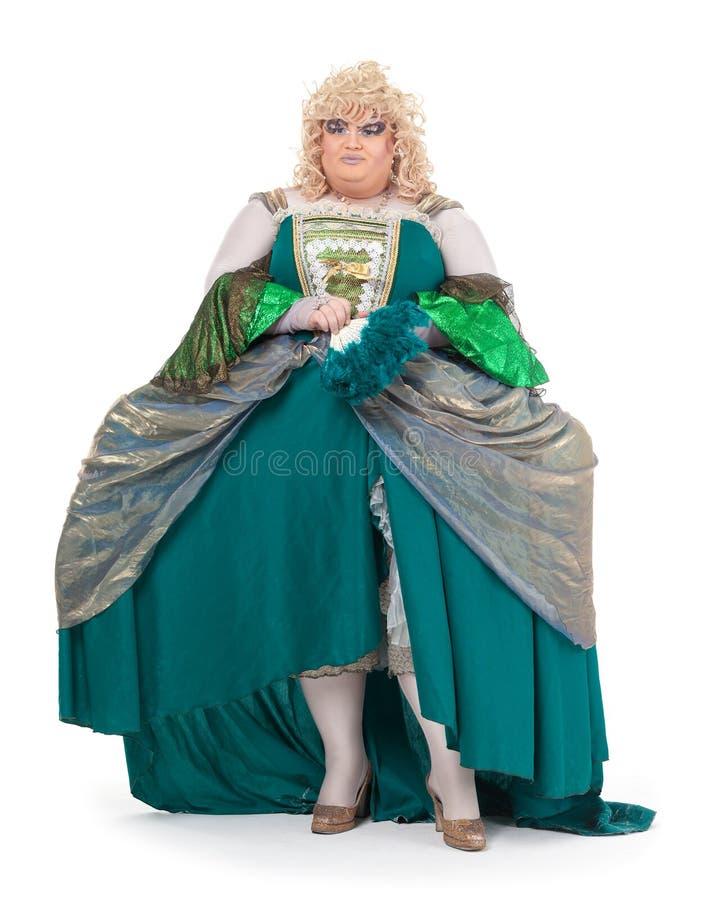 Download Drag Queen In Vintage Dress Stock Image - Image: 32916939