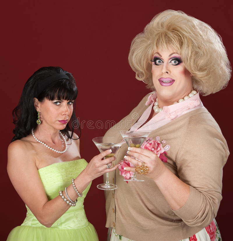 Download Drag Queen And Woman With Martini Stock Photo - Image: 24459964