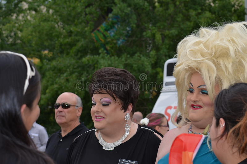 Drag Queens at Pride Parade