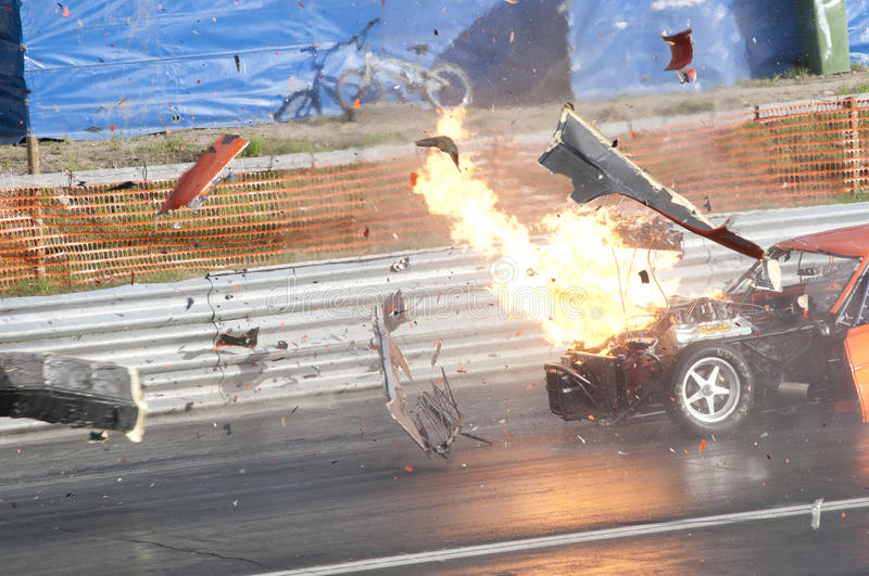 Drag race explosion, pic4 stock photos