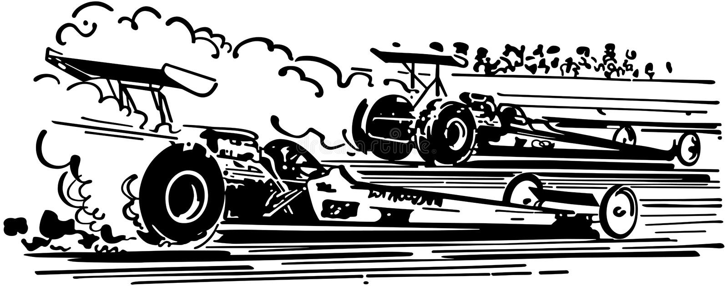 Drag Racing royalty free illustration