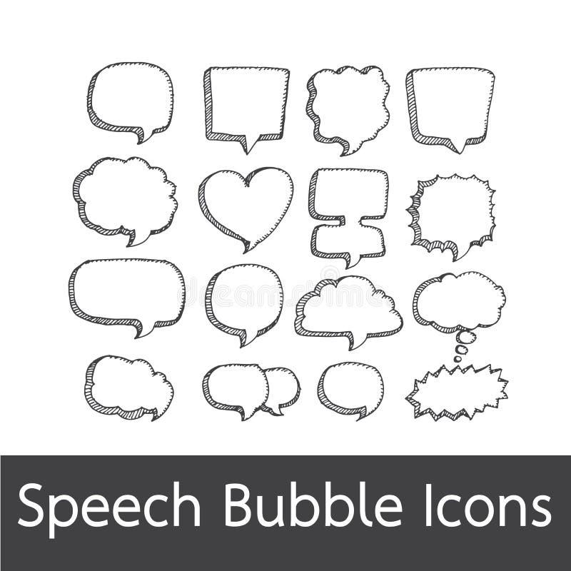 Dragen anförandebubblahand vektor illustrationer