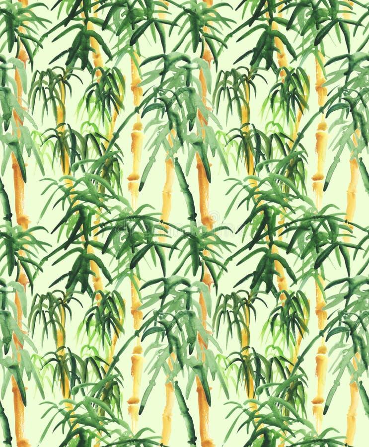 Dragen bambuhand royaltyfri illustrationer