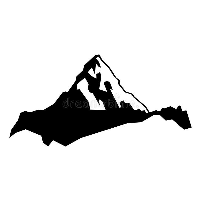 Dragen berg- och kullehand, vektor, Eps, logo, symbol, konturillustration vid crafteroks för olikt bruk royaltyfri illustrationer