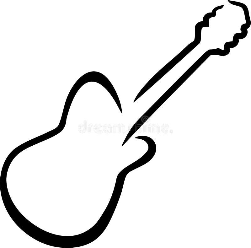 Dragen elektrisk gitarr royaltyfri illustrationer