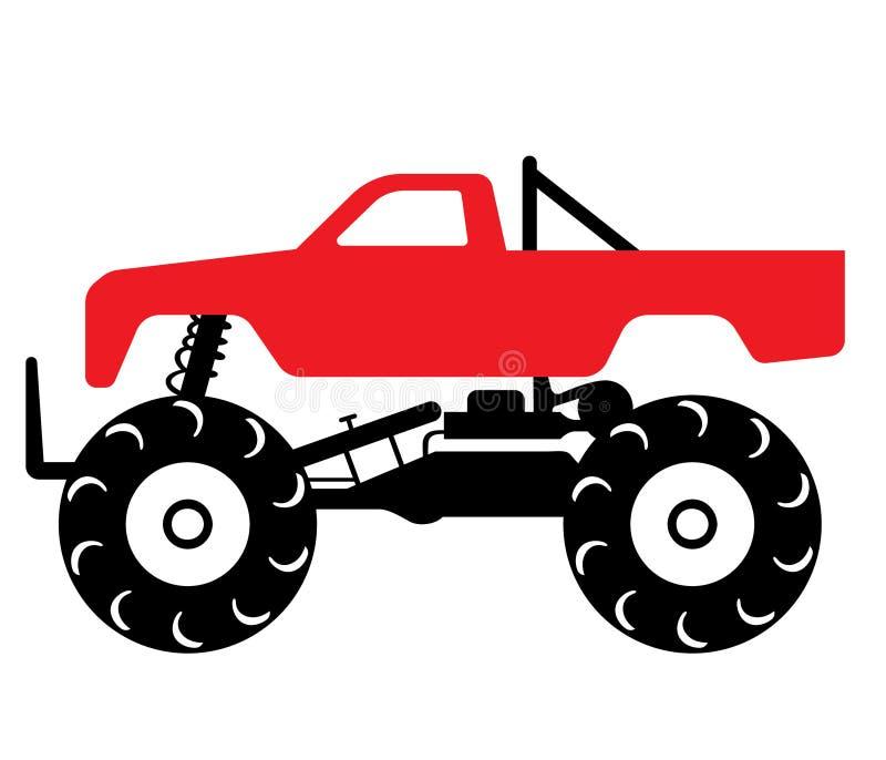 Dragen hand för gigantisk lastbil, vektor, Eps, logo, symbol, konturillustration vid crafteroks för olikt bruk stock illustrationer