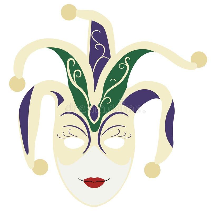 Dragen hand för Mardi grasmaskering, vektor, Eps, logo, symbol, crafteroks, konturillustration för olikt bruk royaltyfri illustrationer