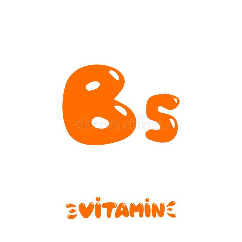 Dragen hand för vitamin B5 vektor illustrationer