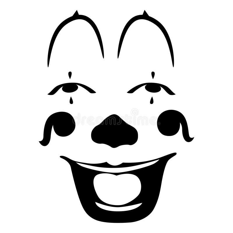 Dragen hand f?r clownvektoreps, vektor, Eps, logo, symbol, crafteroks, konturillustration f?r olikt bruk royaltyfri illustrationer