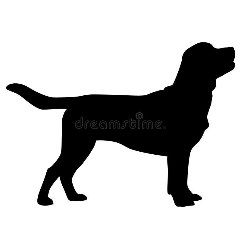 Dragen hand f?r labradorvektoreps, vektor, Eps, logo, symbol, crafteroks, konturillustration f?r olikt bruk royaltyfri illustrationer