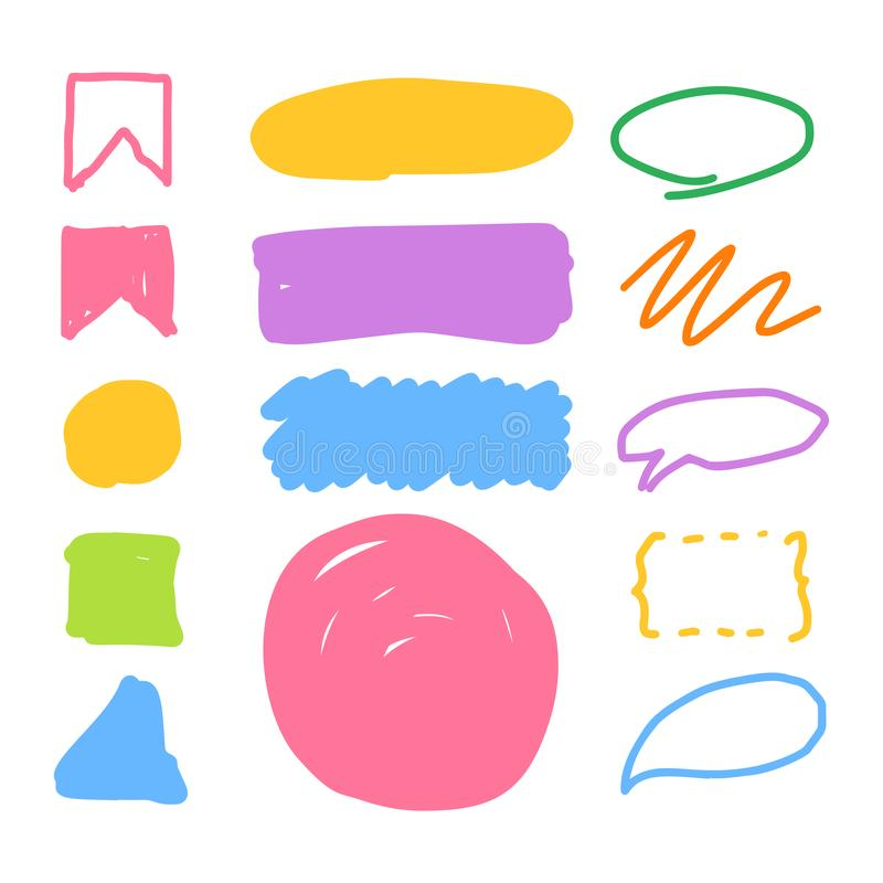 Dragen hand f?r mark?rstilupps?ttning vektor illustrationer