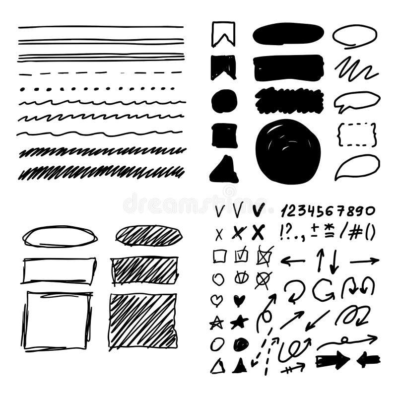 Dragen hand f?r mark?rstilupps?ttning stock illustrationer