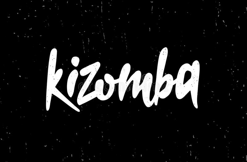 Dragen hand märka kortet Inskriften: Kizomba vektor illustrationer