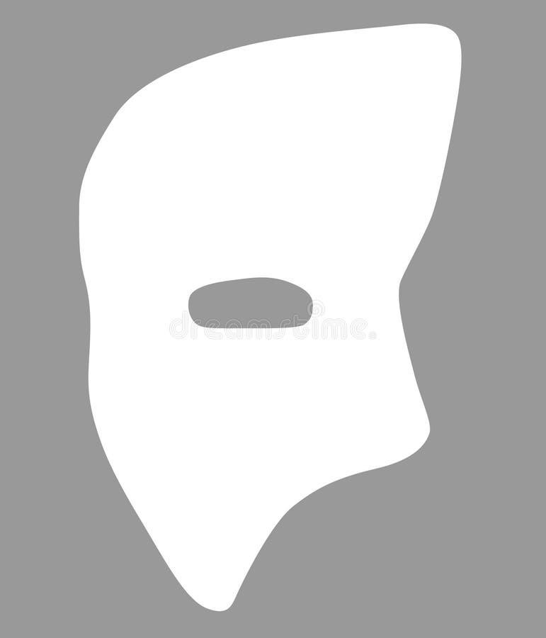 Dragen inbillad hand för maskeringsvektoreps, vektor, Eps, logo, symbol, konturillustration vid crafteroks för olikt bruk royaltyfri illustrationer