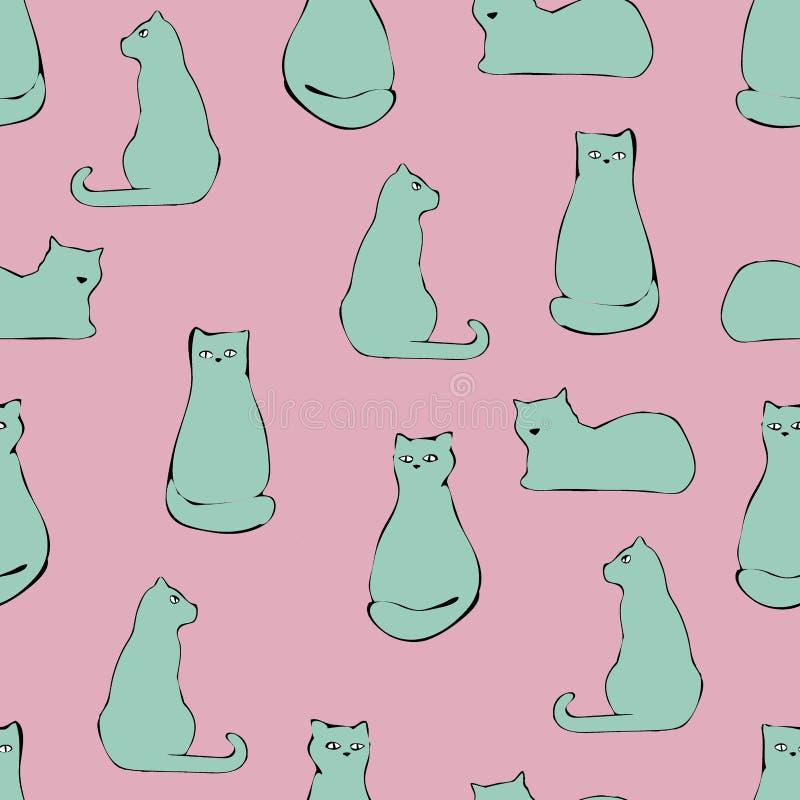 Dragen modell för katt hand royaltyfri illustrationer