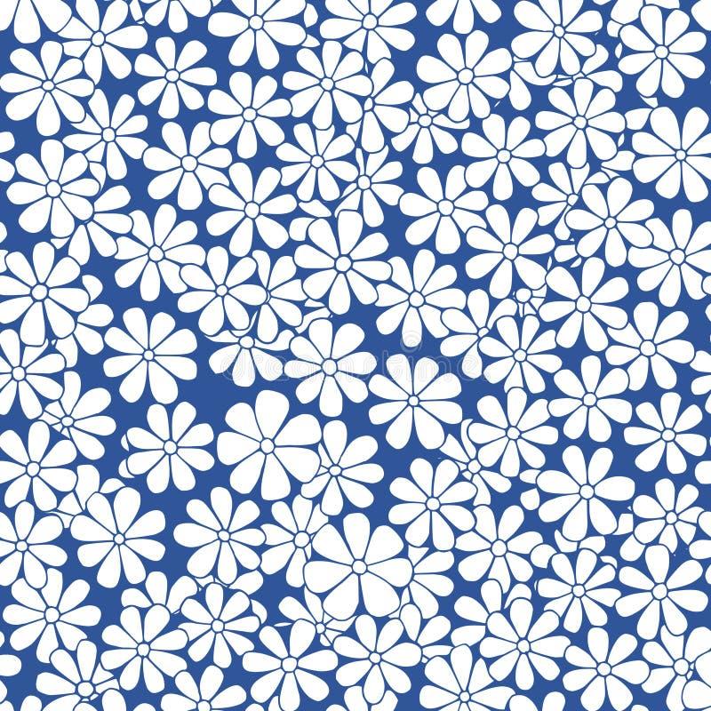 Dragen naturlig dekorativ blom- modell för vektor sömlös hand royaltyfri illustrationer
