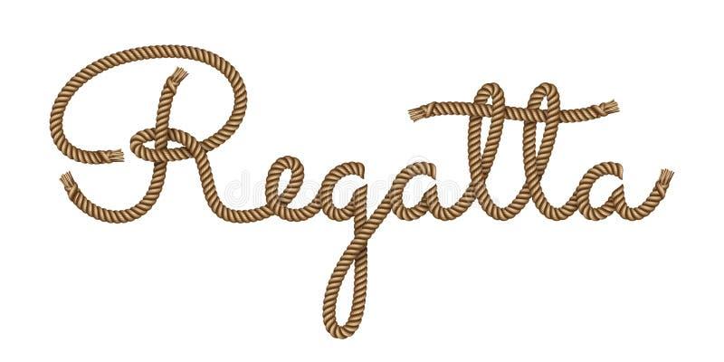 Dragen rephand märka regatta royaltyfri illustrationer