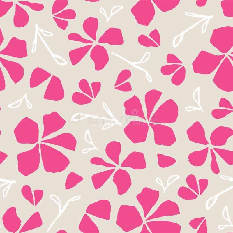 Dragen s?ml?s modell f?r vektor hand Japansk traditionell yttersidadesign Blom- illustration, sakura blomning stock illustrationer