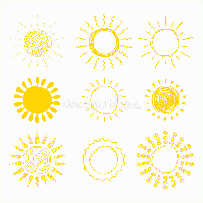 Dragen soluppsättninghand royaltyfri illustrationer