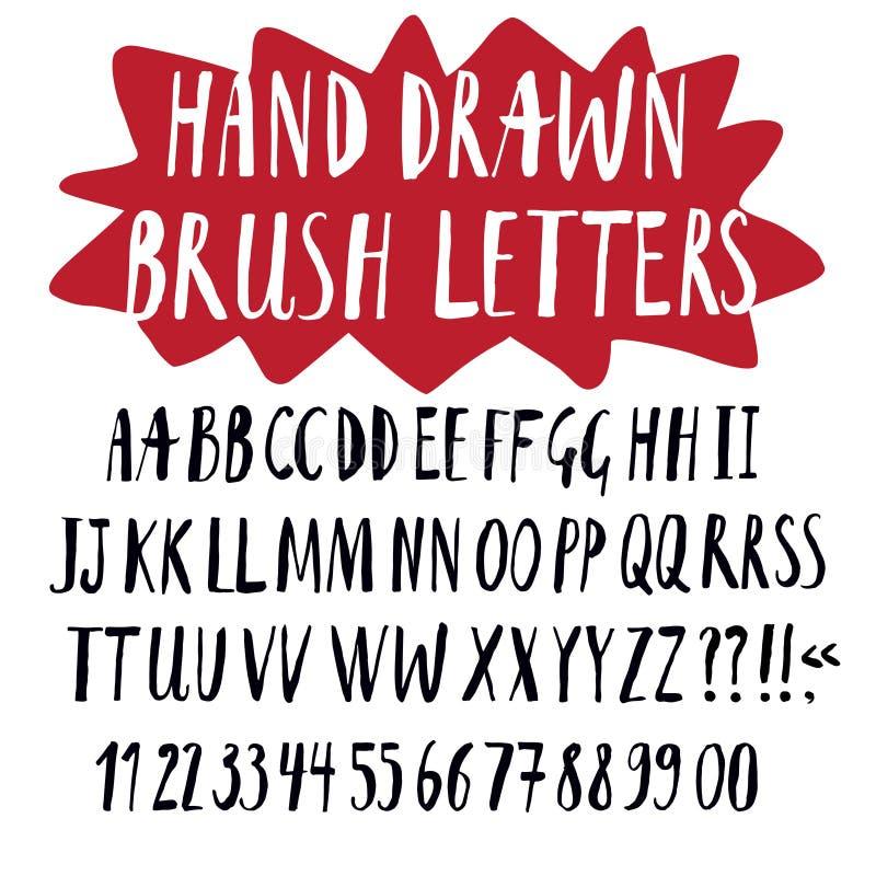 Dragen stilsort för borste hand vektor illustrationer