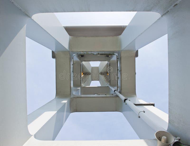 Drager van de IJssel-ophaalbrug van een centrale centrale meningsupwa stock afbeelding