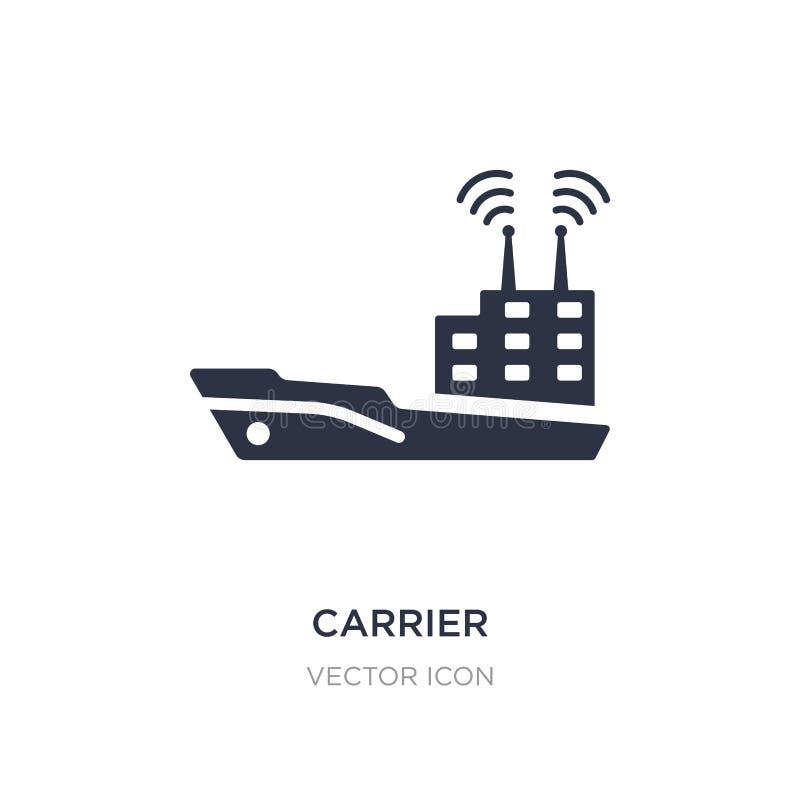 dragerpictogram op witte achtergrond Eenvoudige elementenillustratie van Vervoerconcept royalty-vrije illustratie