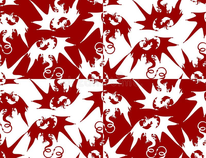 draghi royalty illustrazione gratis