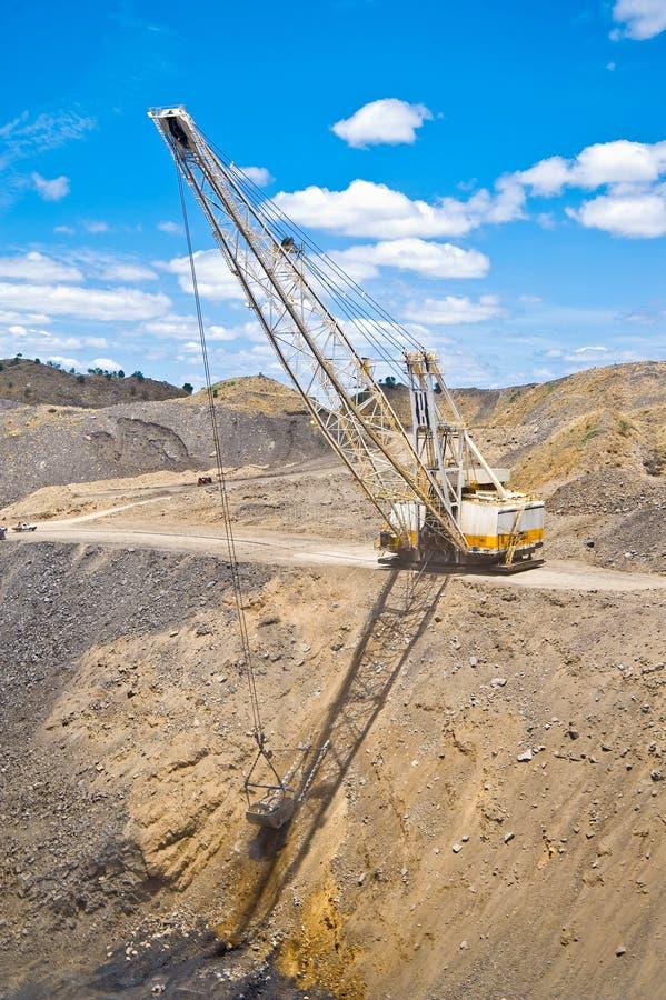 dragline άνθρακα ορυχείο στοκ εικόνα με δικαίωμα ελεύθερης χρήσης