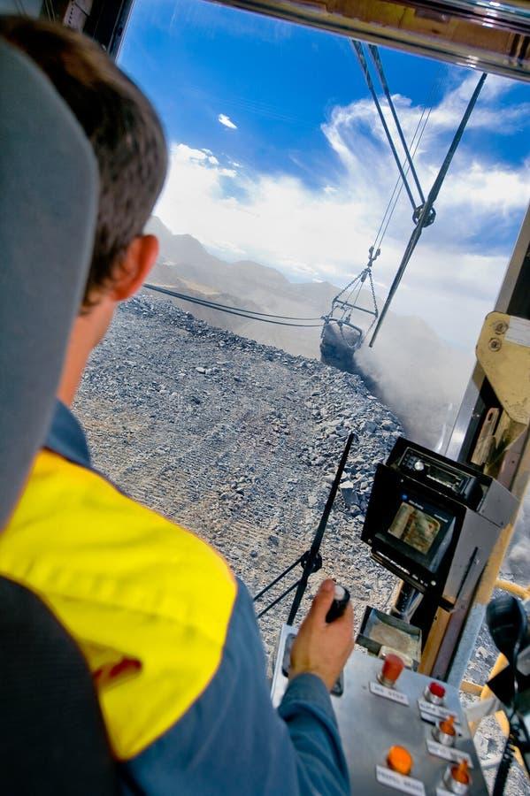 dragline άνθρακα χειριστής ορυχείων στοκ εικόνες με δικαίωμα ελεύθερης χρήσης