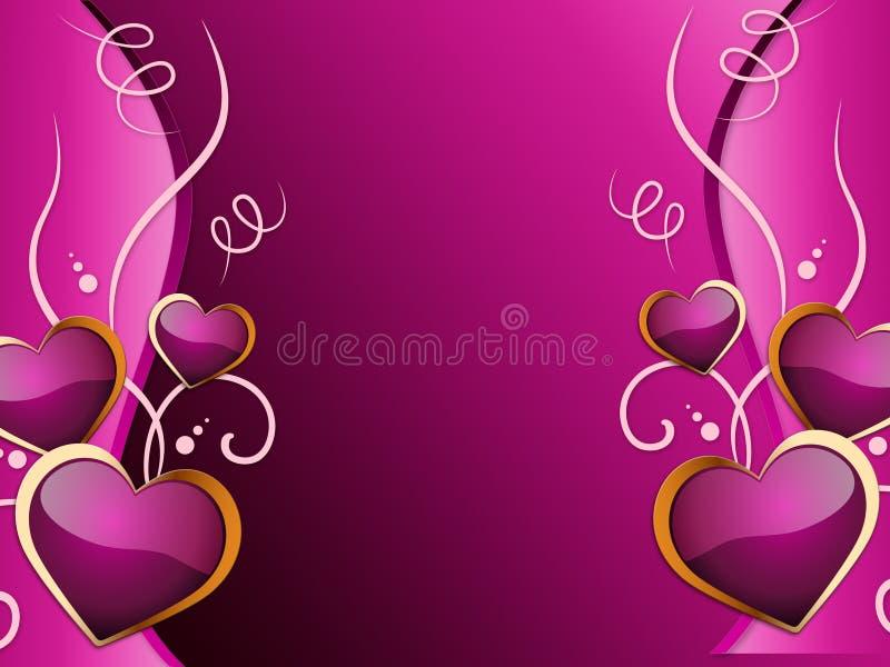 Dragning och bröllop för hjärtabakgrundshjälpmedel romansk stock illustrationer