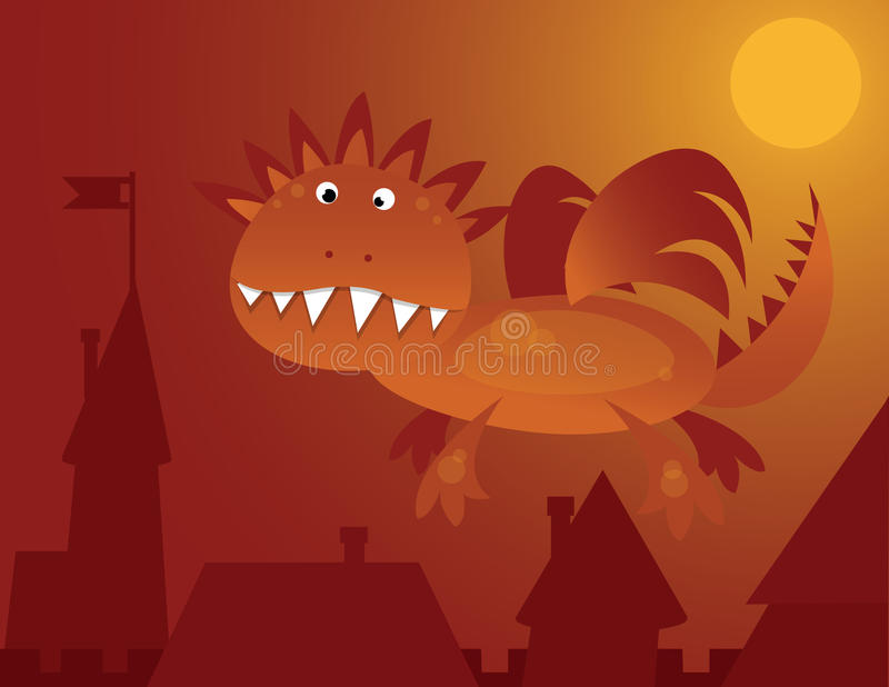 Drago royalty illustrazione gratis