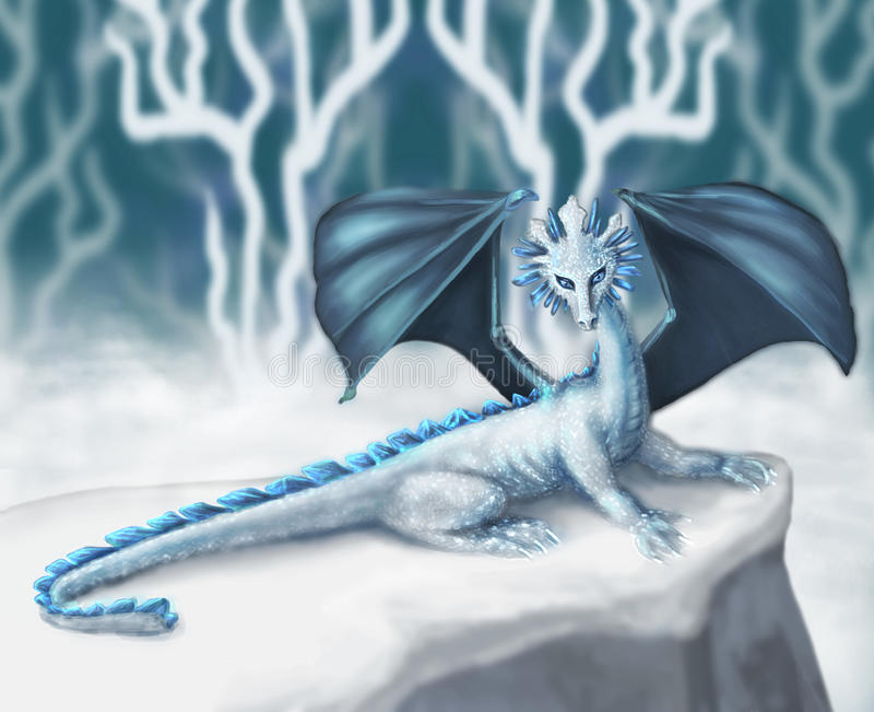 Drago bianco royalty illustrazione gratis