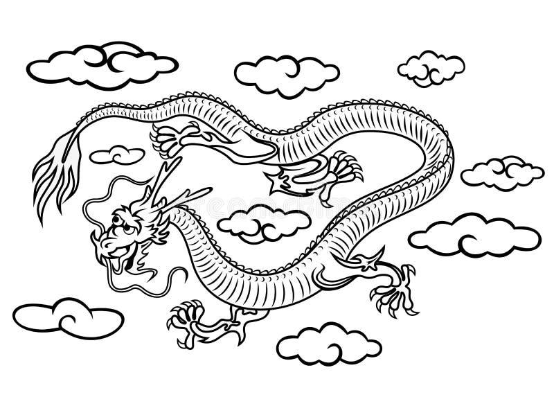 Drago cinese illustrazione vettoriale