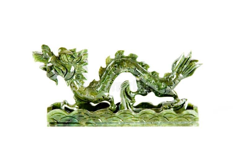 Drago cinese della giada fotografia stock