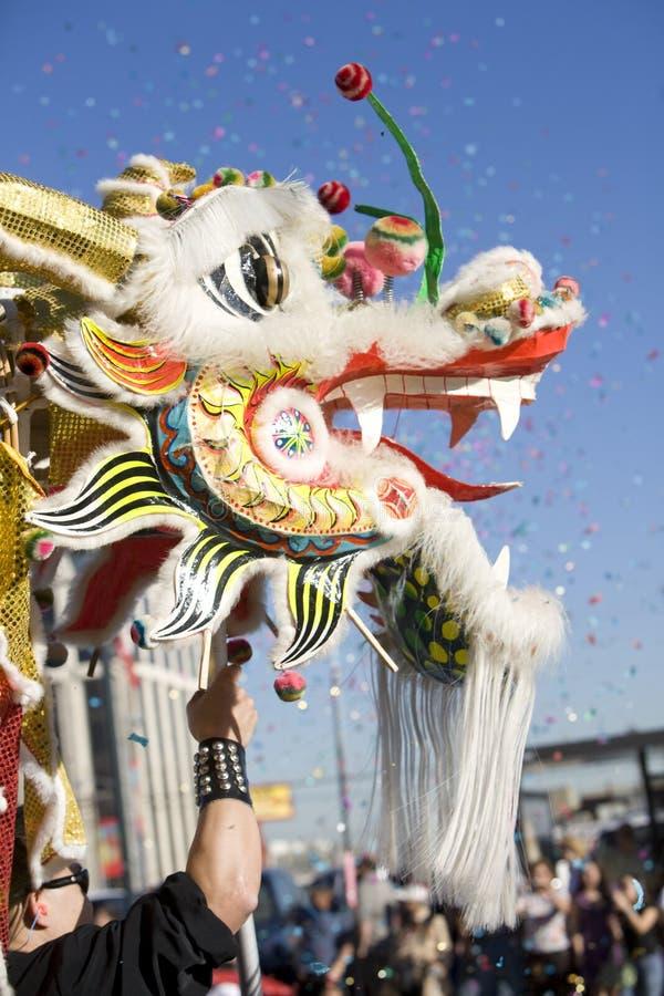 Drago cinese di parata di nuovo anno immagine stock
