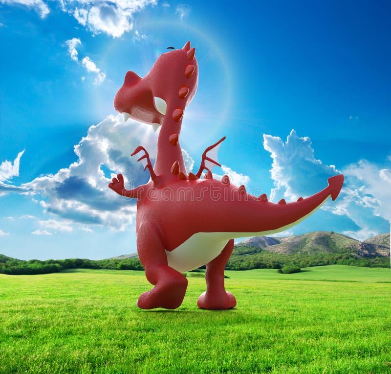 Drago del bambino di Dino nel andare via royalty illustrazione gratis